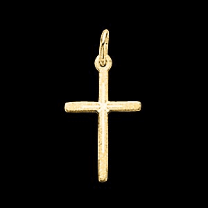 14k Diamond Cut Cross Pendant
