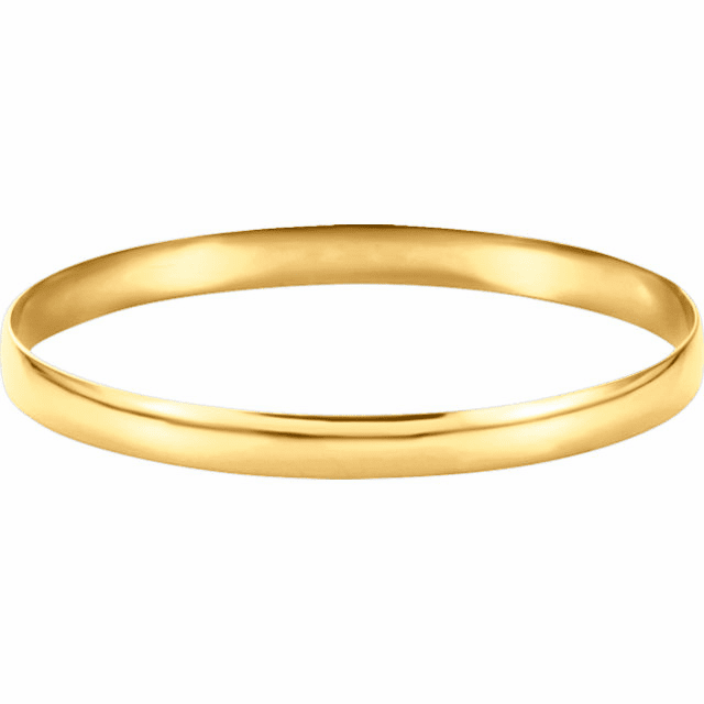 14k Gold 6mm Oval Bangle Bracelet. 70% off.