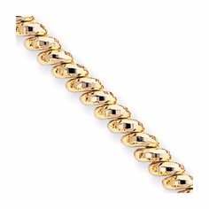 14k Gold 7 inch Faceted San Marco Bracelet