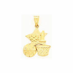 14k GOld Basketball Charm