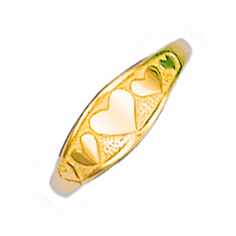 14k Gold Child's Heart Ring
