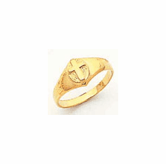14k Gold Child's  Ring with Cross