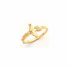 14K GOLD  CHILDREN'S CROSS  RING