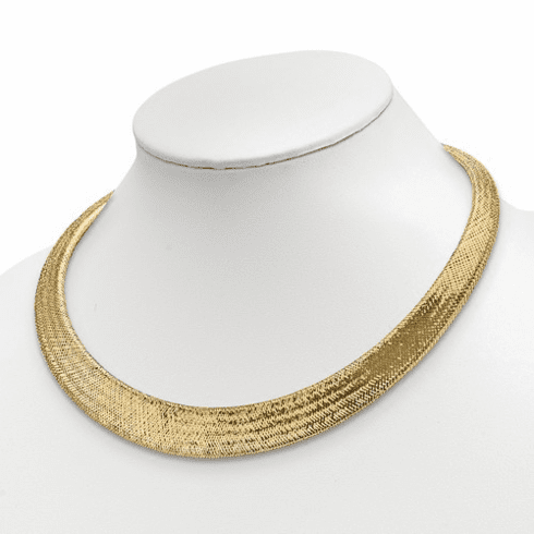 14k Gold Collar Necklace