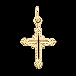 14k Gold Design Cross Pendant