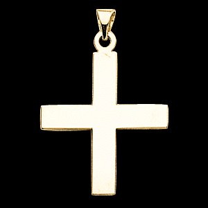 14K Gold Greek Cross Pendant