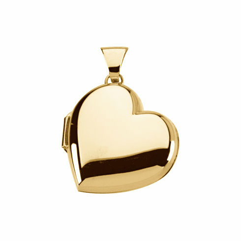 14k GOLD HEART LOCKET THAT HOLDS 2 PICTURES