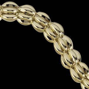 14k Gold Hollow Balloon 8 inch Bracelet