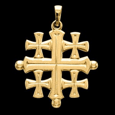 14k Gold Jerusalem Cross