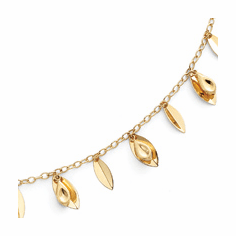 14k Gold Leaves Bracelet from the Link Collection by Comparin