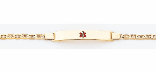14k Gold Marina Link Medical ID Bracelet