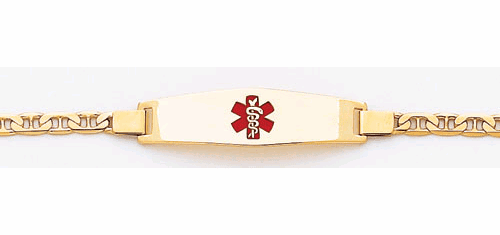 14k Gold Mariner Link Medical ID Bracelet