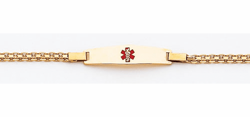 14k Gold Medical  ID Bismark Bracelet