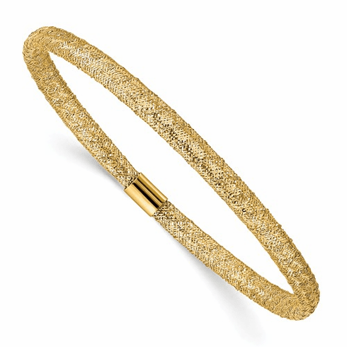 14k Gold Mesh Stretch Bracelet