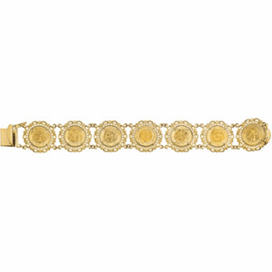 14k Gold Powerful Friends of God Bracelet