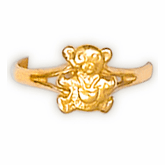 14k Gold Teddy Bear Ring
