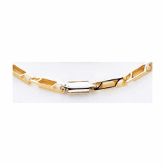14k Gold Two Tone Hand-polished 20 inch Link Chain
