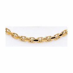 14k Handpolished Link Necklace (lk302)