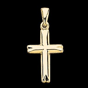 14k Hollow Gold Cross Pendant