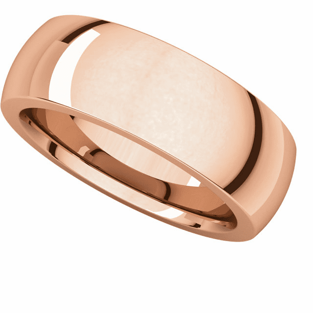14K Rose Gold 7mm Heavy Comfort Fit Band. Buy one, Get one Free