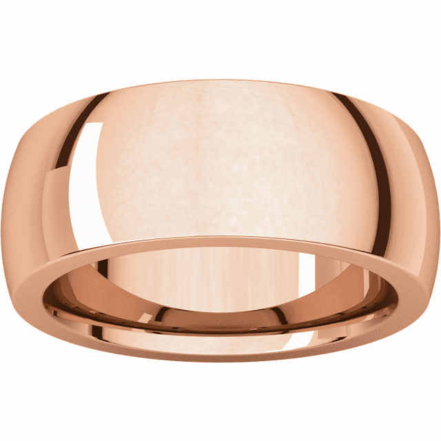 14K Rose Gold 8mm Heavy Comfort Fit Band. Buy one, Get one Free