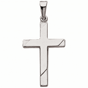 14k Two Tone Cross Pendant