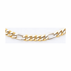 14k Two Tone Hand-polished Link Chain