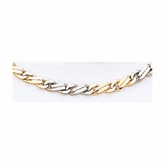 14k Two Tone Hand-polished Link Chain (lk318)