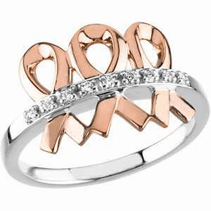 14k White and Rose Gold Me and My Two Friends® Ring