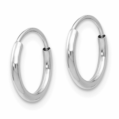 14k White Gold Madi K Endless Hoop Earrings