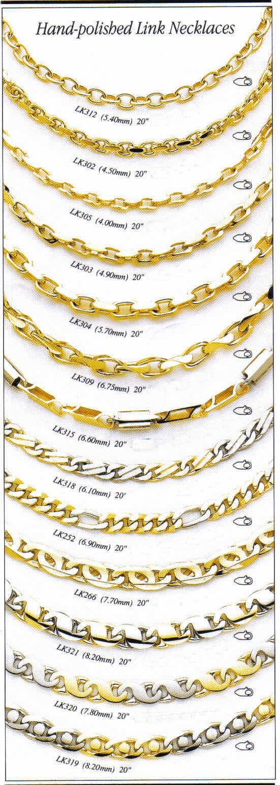 14k Yellow Gold Hand-Polished Link Chains