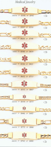 14k Yellow Gold Medical ID Bracelet