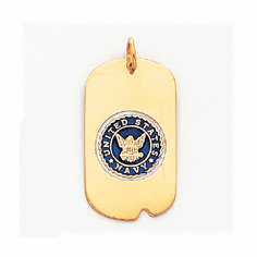 14k Yellow or White Gold Military Dog Tags