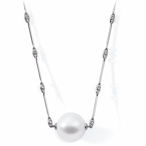 18k Paspaley South Sea Cultured Pearl & Diamond Necklace