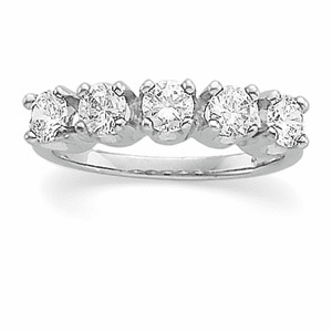 1ct Platinum Diamond Anniversary Band