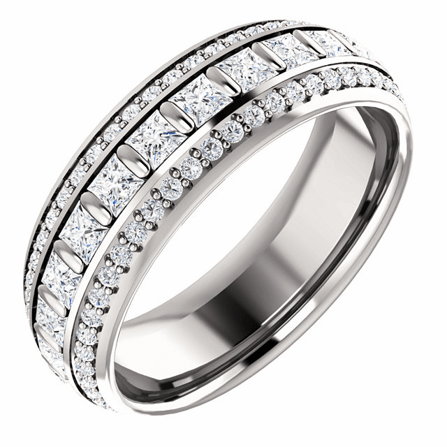 """60% off Platinum 1 3/4 CTW Diamond Eternity Band, Free 32"""" TV with purchase"""