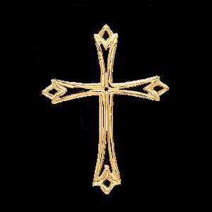 Beautiful 14k Diamond Cut Gold Cross
