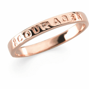 """Breast Cancer Awareness """"Courage"""" Ring"""
