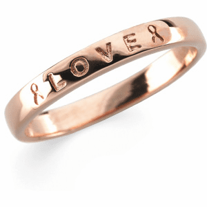 """Breast Cancer Awareness """"Love"""" Ring"""