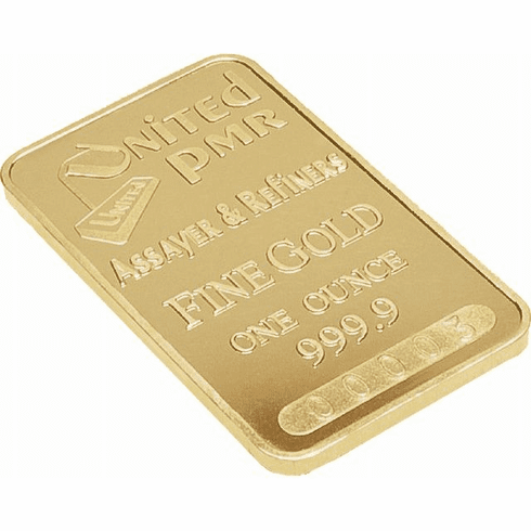 Certified 24k yellow gold one ounce pure gold bar