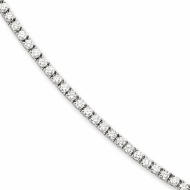 Cheryl M. Collection Sterling Silver CZ Bracelet