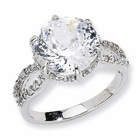 Cheryl M Sterling Silver 100-facet CZ Ring