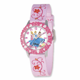 Disney Princess Kids Printed Fabric Band Time Teacher Watch