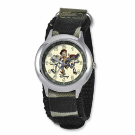 Disney Toy Story Kids Camo Velcro Band Time Teacher Watch