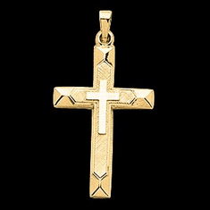 Distinguished 14k Gold Cross Pendant