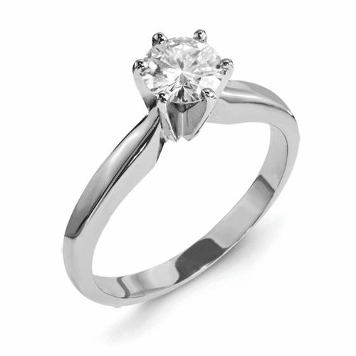 Forever Brilliant 1ct Moissanite Engagement Ring, Free Stud earrings with Purchase