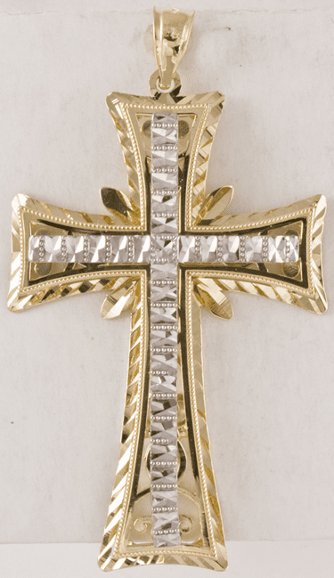Large 14k Gold Men's Cross