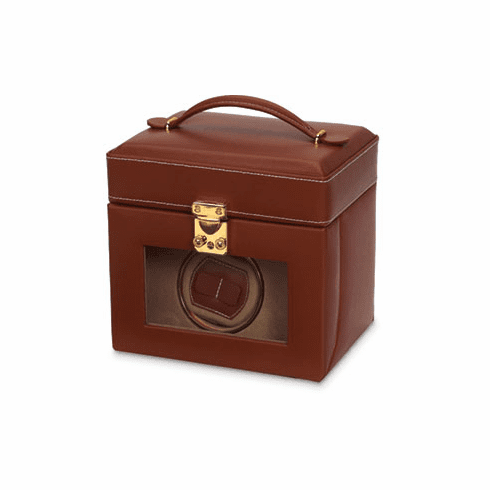 Leather Watch Winder and Case
