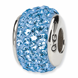 Light Blue Swarovski Elements Bead