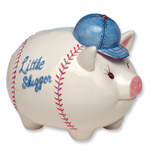 Little Slugger Musical Piggy Bank from the MudPie Collection